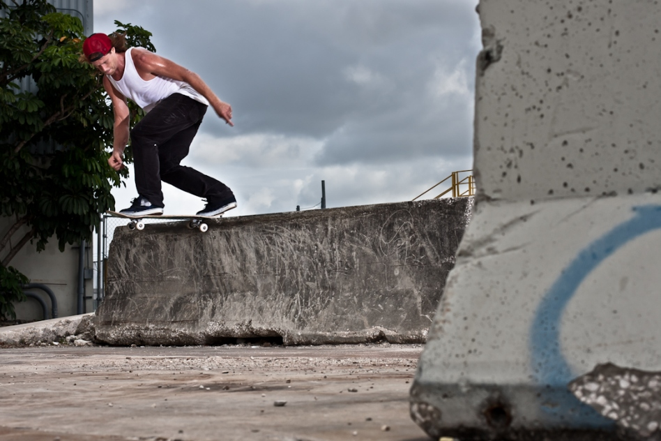 Joel Meinholz, Backside Tailslide, Miami, FL. Photo © Matt Roy Photography