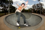 Jake Mills, Smith Grind, Providence East Skatepark, Brandon, Florida. Photo © No Comply Skateboard Mag