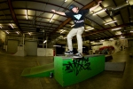 John Partytime, Boardslide, Schoolyard Skatepark, St. Petersburg, FL. Photo © No Comply Skateboard Mag