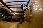 Brandon Yarborough, Nosepress on the vert wall.