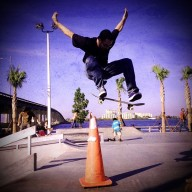 Ollie, Bradenton Riverwalk Skatepark. Photo @babynaps