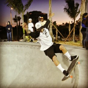 "Jimmy ""The Greek"" Marcus, Front Smith, Bradenton Riverwalk Skatepark. Photo @kkrandall"