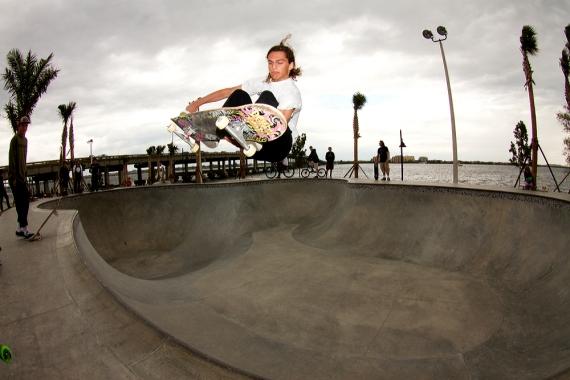 Ashton Dohany, Lien Melon just before the rain, Bradenton Riverwalk Skatepark, Bradenton, FL. Photo © No Comply Skateboard Mag