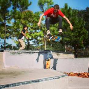 @feedthetao, hardflip at Lake Vista.