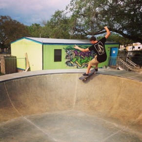 @derek_antiair, Smith Grind, New Smyrna Beach Skatepark.