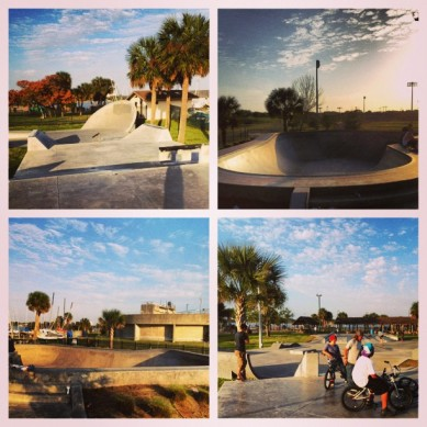 Bethune Point Skatepark, Daytona Beach, FL. Photo @derek_antiair